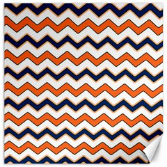 Chevron Party Pattern Stripes Canvas 20  X 20