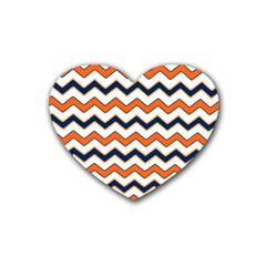 Chevron Party Pattern Stripes Heart Coaster (4 Pack)
