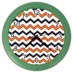Chevron Party Pattern Stripes Color Wall Clocks