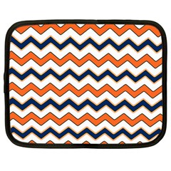 Chevron Party Pattern Stripes Netbook Case (large)
