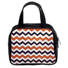 Chevron Party Pattern Stripes Classic Handbags (2 Sides)