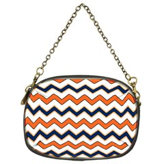 Chevron Party Pattern Stripes Chain Purses (one Side)