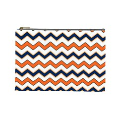Chevron Party Pattern Stripes Cosmetic Bag (large)