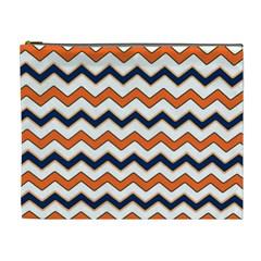 Chevron Party Pattern Stripes Cosmetic Bag (xl)