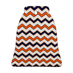 Chevron Party Pattern Stripes Bell Ornament (two Sides)