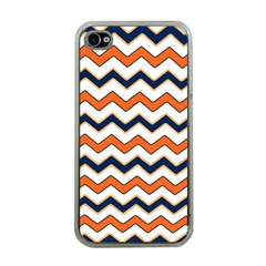 Chevron Party Pattern Stripes Apple Iphone 4 Case (clear)
