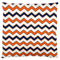 Chevron Party Pattern Stripes Large Cushion Case (one Side)