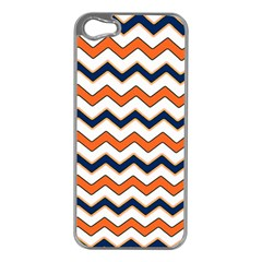 Chevron Party Pattern Stripes Apple Iphone 5 Case (silver)