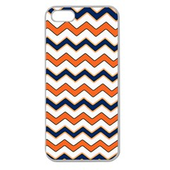 Chevron Party Pattern Stripes Apple Seamless Iphone 5 Case (clear)