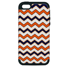Chevron Party Pattern Stripes Apple Iphone 5 Hardshell Case (pc+silicone)