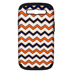 Chevron Party Pattern Stripes Samsung Galaxy S Iii Hardshell Case (pc+silicone)
