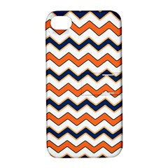 Chevron Party Pattern Stripes Apple Iphone 4/4s Hardshell Case With Stand