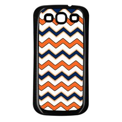 Chevron Party Pattern Stripes Samsung Galaxy S3 Back Case (black)