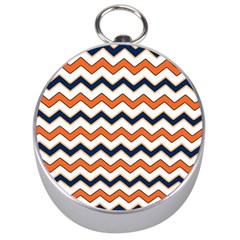 Chevron Party Pattern Stripes Silver Compasses
