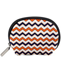 Chevron Party Pattern Stripes Accessory Pouches (small)