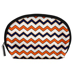 Chevron Party Pattern Stripes Accessory Pouches (large)