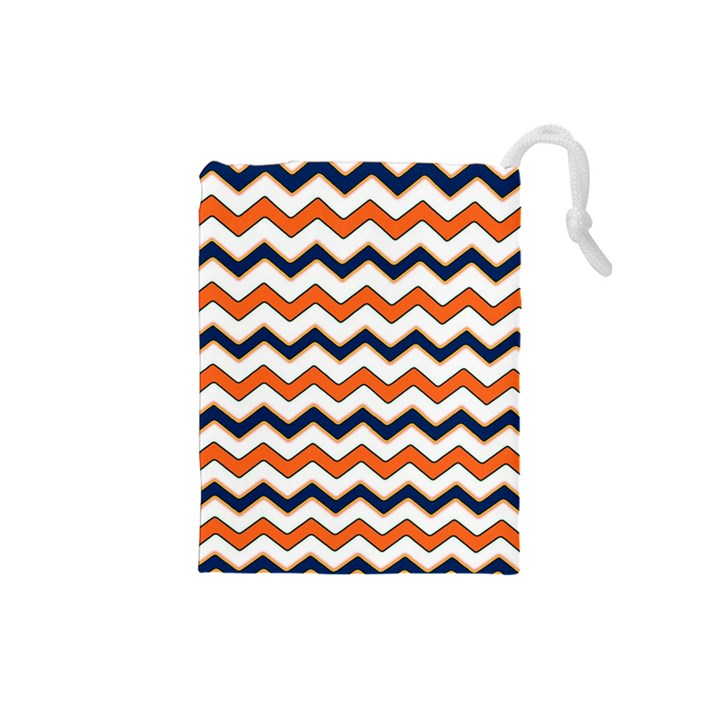 Chevron Party Pattern Stripes Drawstring Pouches (Small)