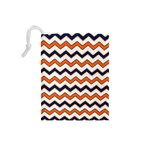 Chevron Party Pattern Stripes Drawstring Pouches (Small)  Back