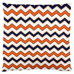 Chevron Party Pattern Stripes Large Flano Cushion Case (one Side)