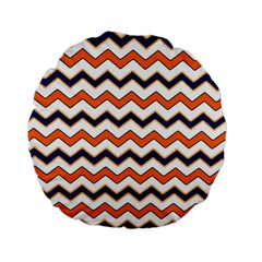 Chevron Party Pattern Stripes Standard 15  Premium Flano Round Cushions