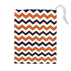 Chevron Party Pattern Stripes Drawstring Pouches (extra Large)