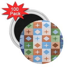 Fabric Textile Textures Cubes 2 25  Magnets (100 Pack)