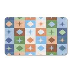 Fabric Textile Textures Cubes Magnet (rectangular)
