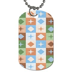 Fabric Textile Textures Cubes Dog Tag (two Sides)