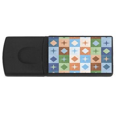 Fabric Textile Textures Cubes Usb Flash Drive Rectangular (4 Gb)