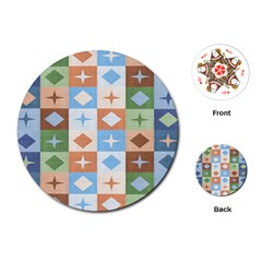 Fabric Textile Textures Cubes Playing Cards (round)