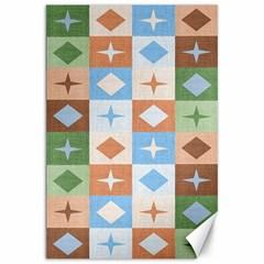 Fabric Textile Textures Cubes Canvas 20  X 30
