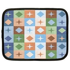 Fabric Textile Textures Cubes Netbook Case (Large)