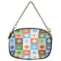 Fabric Textile Textures Cubes Chain Purses (one Side)