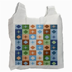 Fabric Textile Textures Cubes Recycle Bag (two Side)