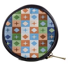 Fabric Textile Textures Cubes Mini Makeup Bags