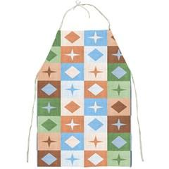 Fabric Textile Textures Cubes Full Print Aprons