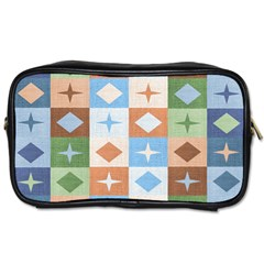 Fabric Textile Textures Cubes Toiletries Bags 2 Side