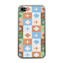 Fabric Textile Textures Cubes Apple Iphone 4 Case (clear)