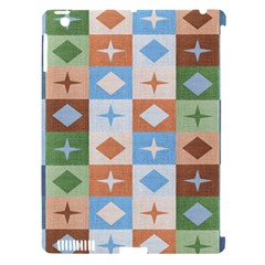 Fabric Textile Textures Cubes Apple Ipad 3/4 Hardshell Case (compatible With Smart Cover)