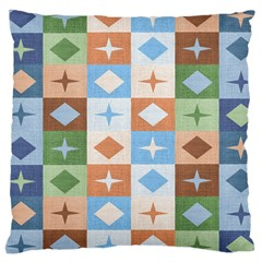 Fabric Textile Textures Cubes Large Cushion Case (one Side)