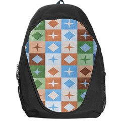 Fabric Textile Textures Cubes Backpack Bag