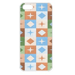 Fabric Textile Textures Cubes Apple Iphone 5 Seamless Case (white)