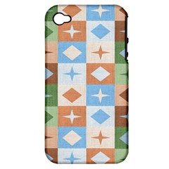 Fabric Textile Textures Cubes Apple Iphone 4/4s Hardshell Case (pc+silicone)