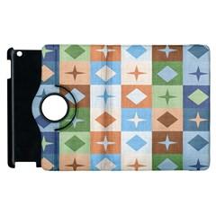 Fabric Textile Textures Cubes Apple Ipad 3/4 Flip 360 Case