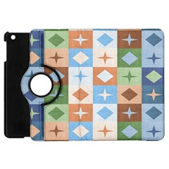 Fabric Textile Textures Cubes Apple Ipad Mini Flip 360 Case