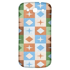 Fabric Textile Textures Cubes Samsung Galaxy S3 S Iii Classic Hardshell Back Case