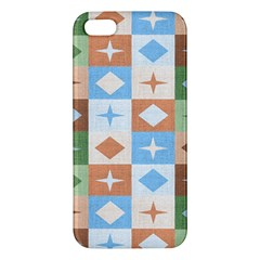 Fabric Textile Textures Cubes Apple Iphone 5 Premium Hardshell Case