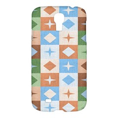 Fabric Textile Textures Cubes Samsung Galaxy S4 I9500/i9505 Hardshell Case