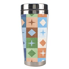 Fabric Textile Textures Cubes Stainless Steel Travel Tumblers