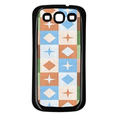 Fabric Textile Textures Cubes Samsung Galaxy S3 Back Case (black)